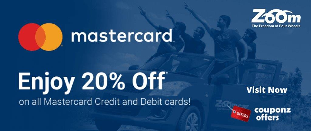 zoomcar master card Offer