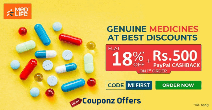 medlife paypal Offer today